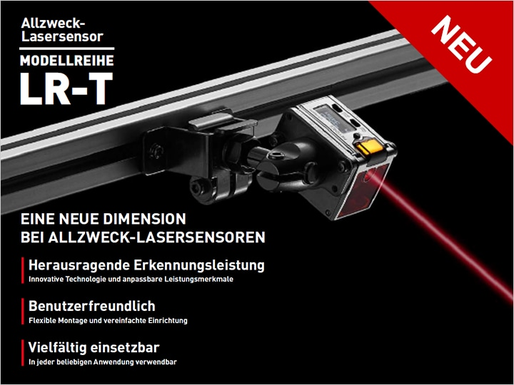 LR-T Series Self-contained TOF Laser Sensor Catalogue (German)